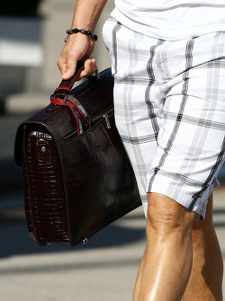 The bag of Michael Schumacher, Mercedes GP