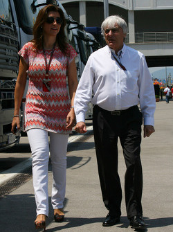 Fabiana Flosi Brazilian Grand Prix Vice-President of Marketing and girlfriend of Bernie Ecclestone
