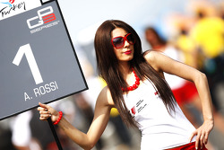 The grid girl of Alexander Rossi