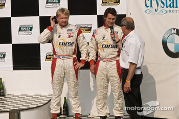 DP podium: DP second place winners #8 Starworks Motorsports BMW Riley: Ryan Dalziel, Mike Forest
