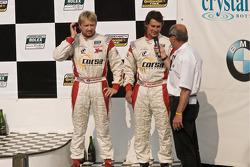 DP podium: DP second place winners #8 Starworks Motorsports BMW Riley: Ryan Dalziel, Mike Forest