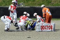 Valentino Rossi, Fiat Yamaha Team crashes