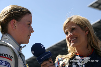 Susie Stoddart, Persson Motorsport, AMG Mercedes C-Klasse interviewed by Verona Wriedt, International DTM.TV