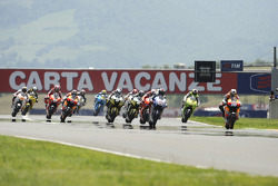 Start: Dani Pedrosa, Repsol Honda Team leads the field