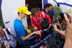 Jean Alesi signs autographs
