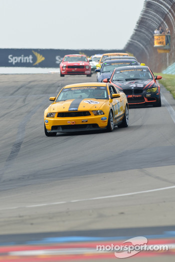 #15 Multimatic Motorsports Ford Mustang Boss 302 R: Scott Maxwell, Joe Foster