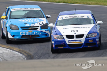 #22 GS Motorsports Chevrolet Cobalt: Thomas Lepper, Gunter Schmidt, #81 BimmerWorld BMW 328i: Seth Thomas, Bill Heumann