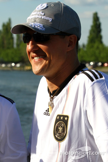 Michael Schumacher, Mercedes GP supporting German football team- Formula 1 World Championship, Rd 8, Canadian Grand Prix, Friday