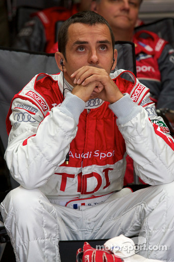 Benoit Tréluyer watches the end of the race
