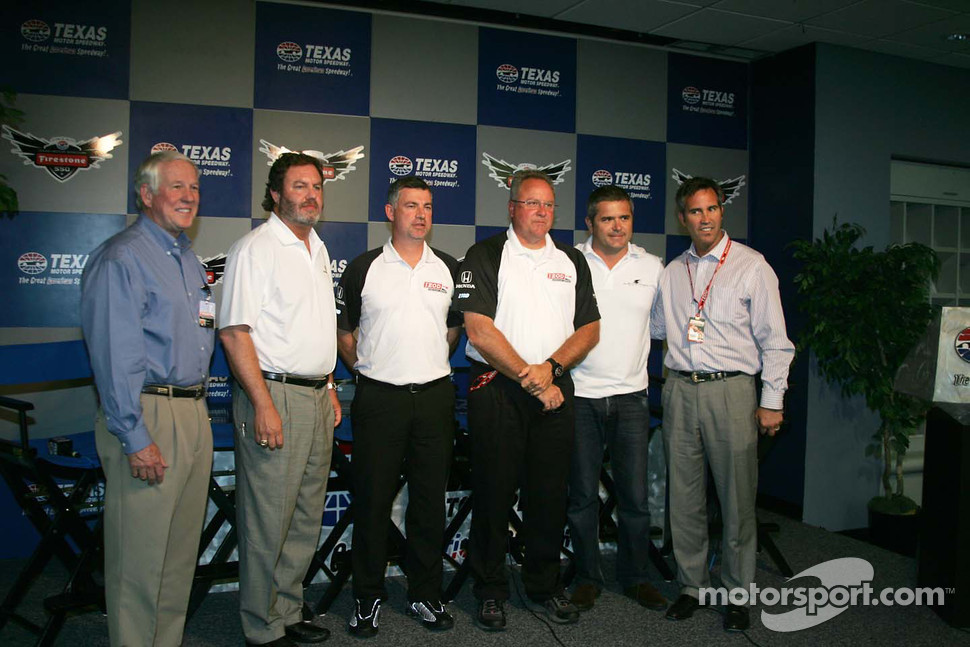 IZOD IndyCar Series New Engine Strategy Team, Bill Looney, Eddie Gossage, Tony Cotman, Brian Barnhart, Gil De Ferran, Randy Bernard