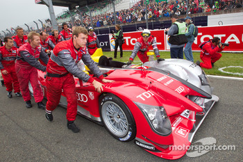 #7 Audi Sport Team Joest Audi R15 on starting grid