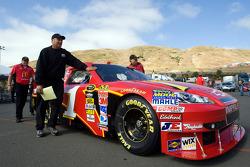 The No. 1 McDonald's crew pushes their car through inspection