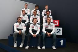 Team Peugeot press conference: Alexander Wurz, Marc Gene, Anthony Davidson, Nicolas Minassian, Stéphane Sarrazin, Franck Montagny, Sébastien Bourdais, Pedro Lamy, Simon Pagenaud