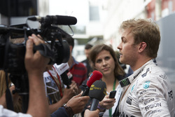 Nico Rosberg, Mercedes AMG F1 speaks with members of the media