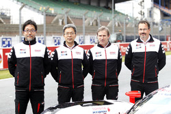 Hisatake Murata, Toshio Sato, Pascal Vasselon, Rob Leupen, Toyota Racing