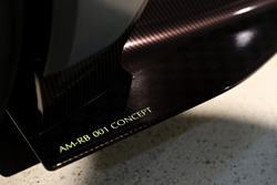 Detail shot of the AM-RB 001 concept car at the Aston Martin and Red Bull Racing Project AMRB 001 Unveil