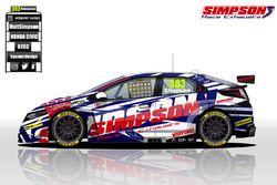 Matt Simpson Honda Civic BTCC