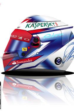Kimi Raikkonen helmet design concept