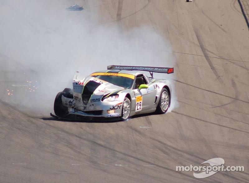 Toni Seiler after a crash at 150 MPH, ADAC GT Masters EuroSpeedway 2007