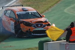 Dillon Koster crash hard, SEAT Leon Supercopa Hockenheimring II 2008