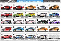 2008 BTCC Spotters Guide