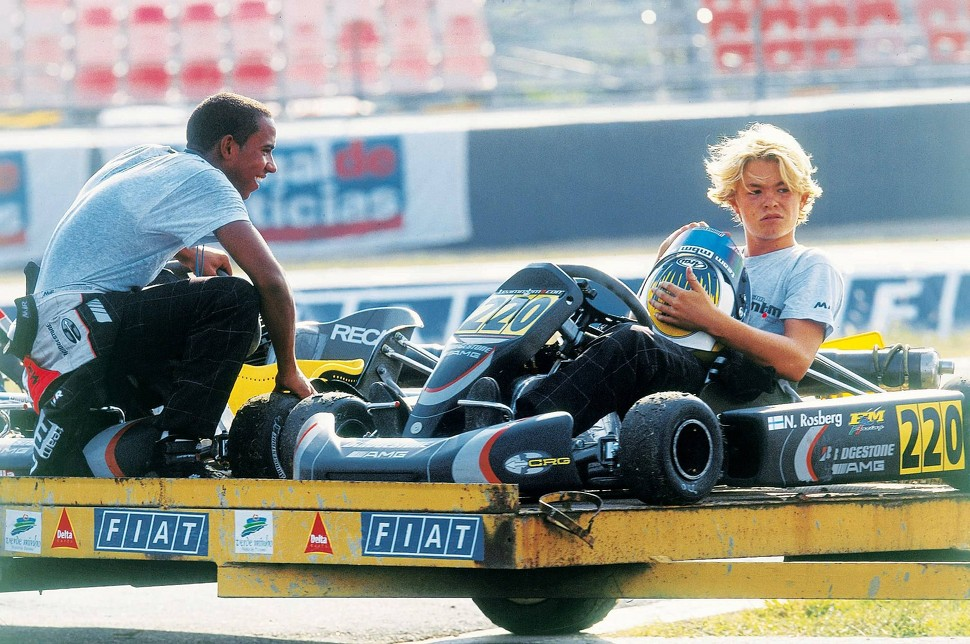 Lewis Hamilton and Nico Rosberg
