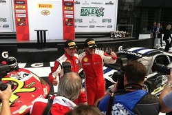 John Farano and Carlos Kauffmann - Race 1 Victory Lane Celebration