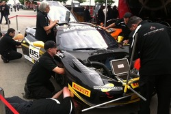The AGM crew at work on John Farano's Sunday Race Car