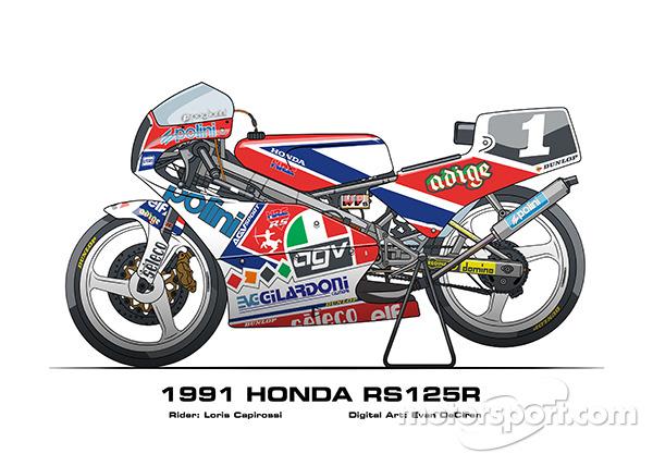 Honda RS125R - Loris Capirossi