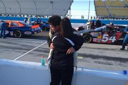 K&N West Racer Anthony Giannone gets a hug from Mom before the race