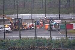Scene of the accident of Jules Bianchi