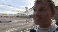 Interview with David Coulthard at the Olympic stadium in Munich