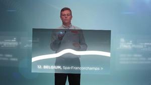 2012 Formula 1 Grand Prix of Belgium - Pirelli 3D Simulation