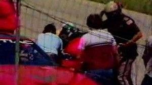 Crazy fan steals pace car before Talladega race in 1986