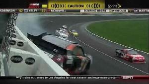 Marcos Ambrose's Lap 169 Wreck - Kansas - 10/21/2012