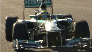 2013 MAMG Car Launch - Rosberg driving
