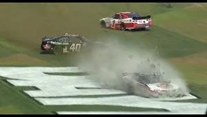 2013 Drive4COPD Nationwide race crash