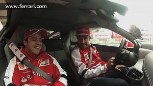 Alonso and Massa in the 458 Italia