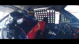 Joey Logano in car footage NASCAR Auto Club 400