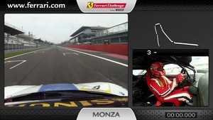 On-board of the Ferrari 458 Challenge: Lorenzo Casé at Monza