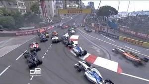 GP2 Monaco 2013, major crash at the start