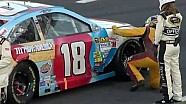 Cable Causes Red Flag and Damage for Kyle Busch