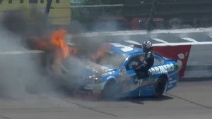 NASCAR Kasey Kahne Wrecks at Michigan 2013