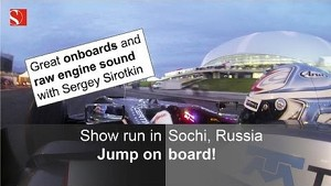 Show drive: Sergey Sirotkin in Sochi, Russia - great onboards and raw engine sound - Sauber F1 Team