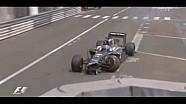 Adrian Sutil loses control & wrecks - Monaco GP 2014