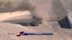 GT Tour 2014 at Ledenon, Mercedes SLS AMG crash