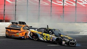 In-car video of Shepherd, Logano incident