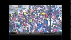 Pace car crashes in wet conditions - 2014 IndyCar Toronto