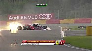 Spa 24h 2014, Massive crash between 2 Ferrari's (Aftermath)