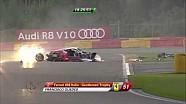 Spa 24h 2014, Massive crash between 2 Ferrari's (Aftermath)